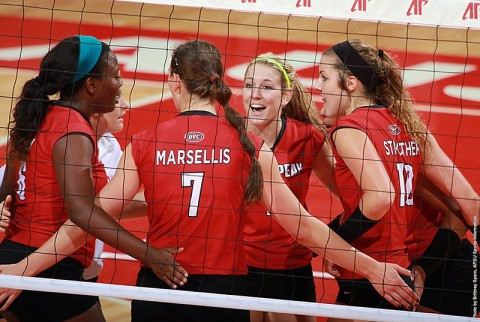 Austin Peay Lady Govs Volleyball plays Tennessee Tech and Jacksonville State to wrap up wraps home slate Friday-Saturday. (APSU Sports Information)