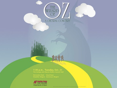 """The Wizard of Oz"" to be performed by APSU Choral October 21st."