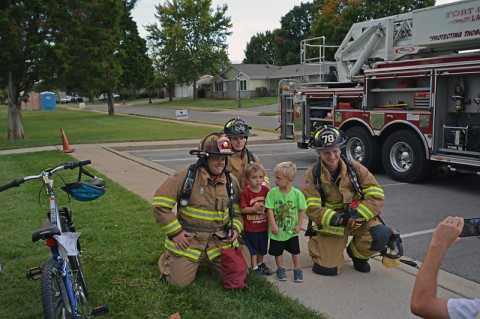 Fire truck tours were just one highlight of Campbell Crossing's community movie night.