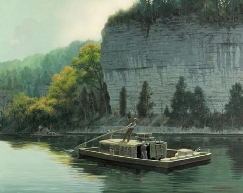 Drifting Downriver - by David Wright. (www.davidwrightart.com)