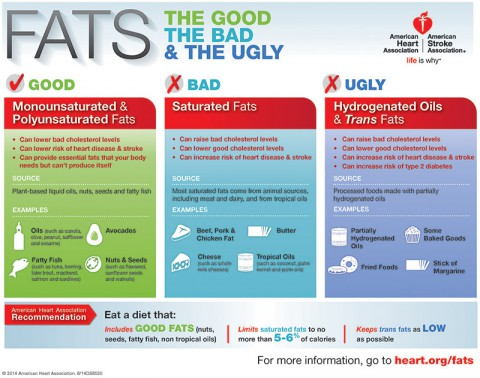 Fats Infographic. (American Heart Association)