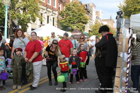 Fright on Franklin Street brings many families to the Historic Downtown Area