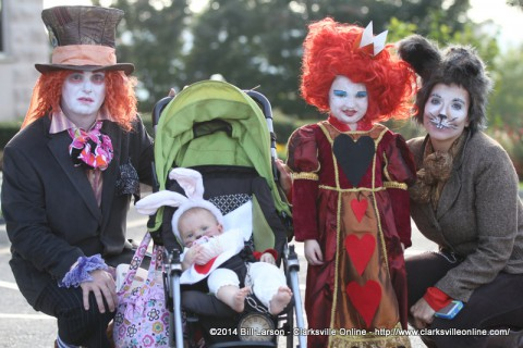 The event is also fun for the parents, many of whom dress up along with their children