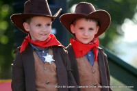 Two young cowboys taking part in the costume contest