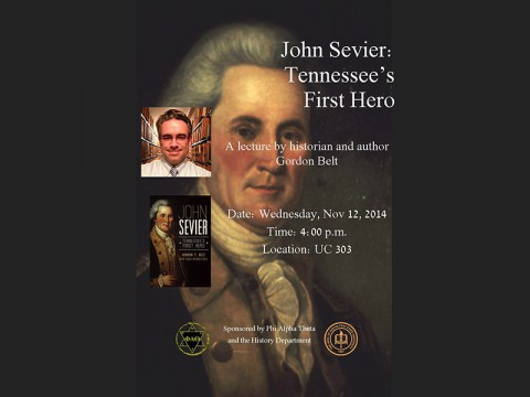 History lecture On John Sevier at APSU November 12th, 2014.