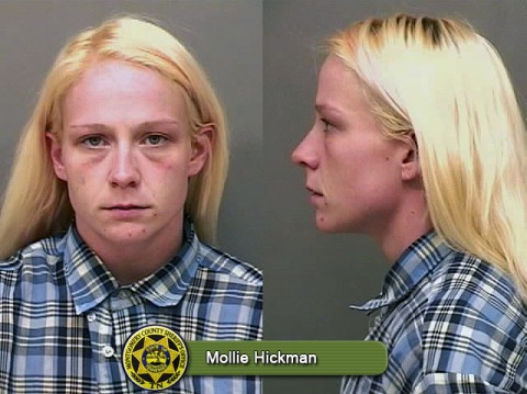 Mollie Hickman arrested for initiation of the process with the intent to manufacture meth.