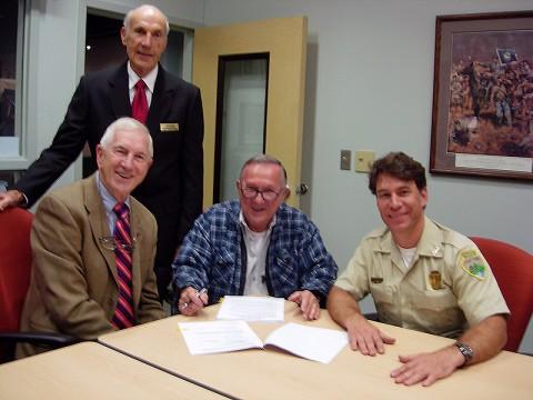 Tennessee State Representative John Tidwell announces Johnsonville State Historic Park Grant