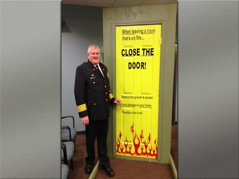 """Close the Door"" Campaign announced by Tennessee State Fire Marshal Gary West."