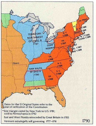 United States and Territories 1790