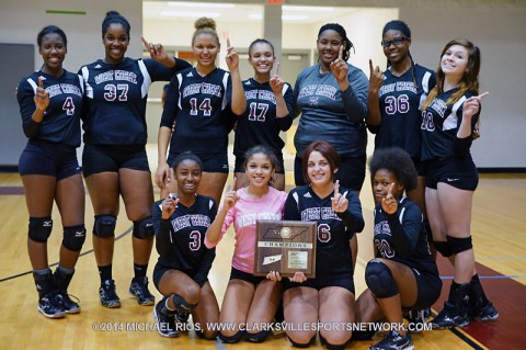 West Creek Lady Coyotes Volleyball wins 10-AAA Tournament Title.