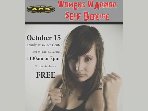 ACS FAP Women's Warrior Self Defense Class