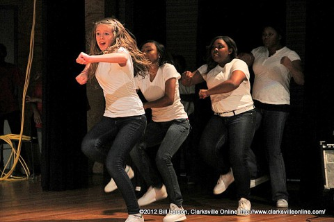 The Alpha Xi Steppers at the 2012 Stompfest