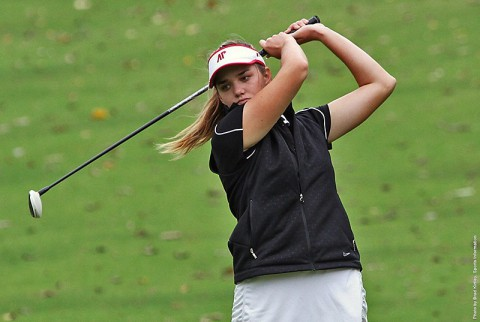 Austin Peay Womens Golf's Amber Bosworth shot her season's best round (73) in the opening round of the F&M Bank APSU Intercollegiate. (APSU Sports Information)