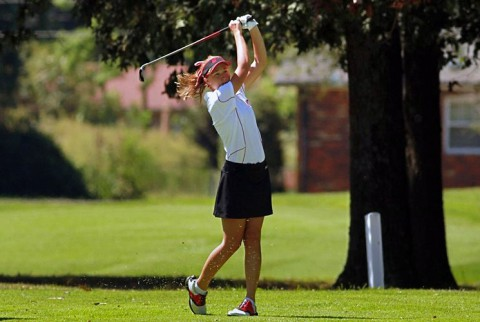 Austin Peay junior Jessica Cathey was the only Lady Gov to finish with a sub-80 score Tuesday. (APSU Sports Information)