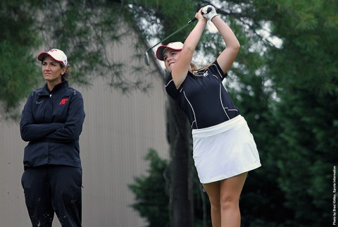 Austin Peay Freshman AnnaMichelle Moore fired a 74, the team's best Tuesday round. (APSU Sports Information)