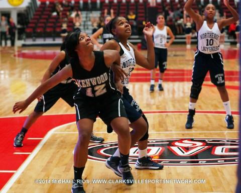Kenwood Lady Knights Basketball push past Northeast Lady Eagles 18-9.