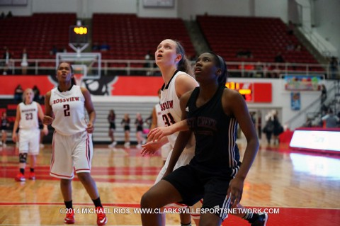 West Creek Girls Basketball get 25-16 win over Rossview Lady Hawks.
