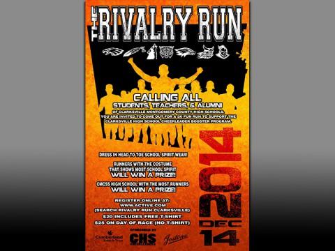 2014 Clarksville High Cheerleaders' Rivalry Run