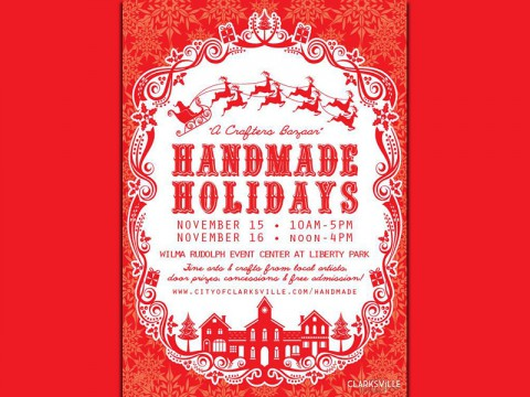 "3rd Annual ""Handmade Holidays- a Crafters Bazaar"" event to be held November 15th and 16th."