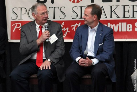 Austin Peay Men's Basketball coach Dave Loos takes part in Coaches vs. Cancer event. (APSU Sports Information)