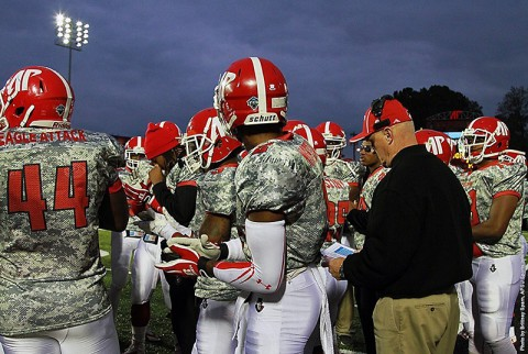 Austin Peay Athletics will be auctioning off the camouflage jerseys worn Saturday, with benefits going to the Wounded Warrior Project. (APSU Sports Information)