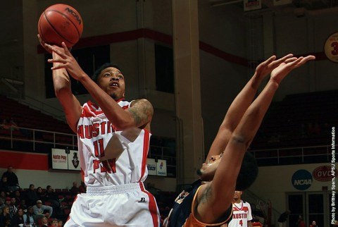Austin Peay's Khalil Davis scored 17 points against the Webster on Saturday. (APSU Sports Information)