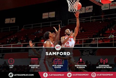Austin Peay Governors Basketball are at Samford, Wednesday. (APSU Sports Information)