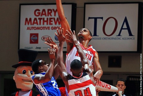 Austin Peay Men's Basketball's Chris Horton tallied a double-double against Samford Wednesday night. (APSU Sports Information)