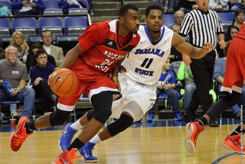 Austin Peay senior forward Ed Dyson (15 points) was the Governors only double-figure scorer against Indiana State. (APSU Sports Information)