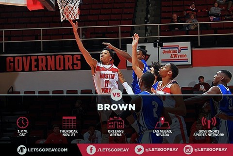 Austin Peay Governors Basketball travels to Las Vegas to take on Brown Thanksgiving Day. (APSU Sports Information)