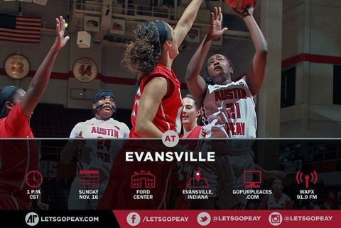 Austin Peay Women's Basketball at Evansville. (APSU Sports Information)