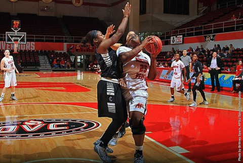 Austin Peay Lady Govs Basketball wins Saturday morning against Grand Canyon 84-77. (APSU Sports Information)