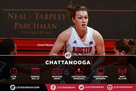 Austin Peay Women's Basketball travels to Chattanooga Mocs, Monday. (APSU Sports Information)