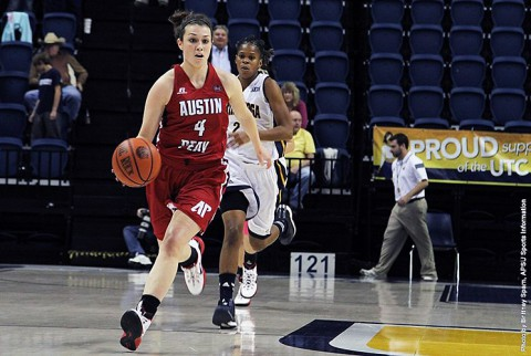 Austin Peay senior guard Kristen Stainback had 21 points and six rebounds against Chattanooga Monday night. (APSU Sports Information)
