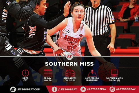 Austin Peay Lady Govs Basketball face Southern Miss at Southern Miss Thanksgiving Invitational. (APSU Sports Information)
