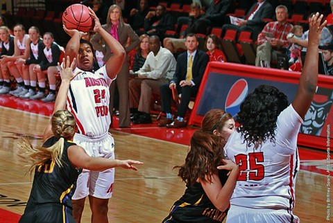Austin Peay Women's Basketball defeats St. Catharine Saturday at the Dunn Center. (APSU Sports Information)