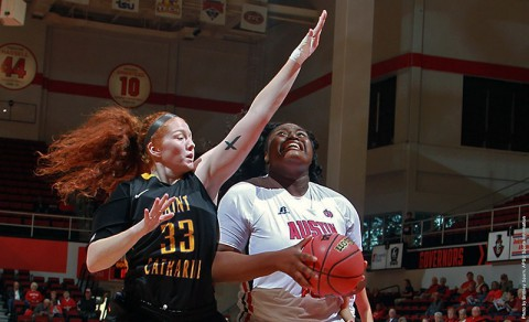Austin Peay's Tearra Banks had 11 points and 11 rebounds in last exhibition game. (APSU Sports Information)