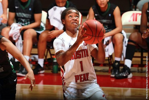 Austin Peay's Tiasha Gray scores career high 37 points against Wright State Friday Night. (APSU Sports Information)