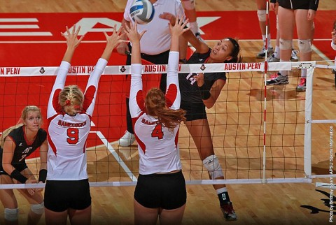 Austin Peay senior Jada Stots had 13 kills in Lady Govs win over Jacksonville State. (APSU Sports Information)