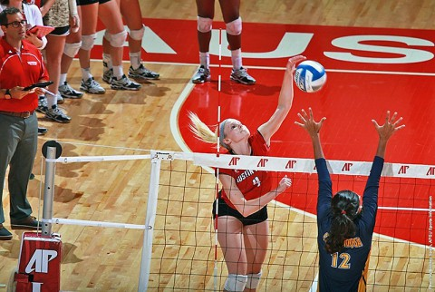 Austin Peay's Sammie Ebright led the Lady Govs with 12 kills against UT Martin Saturday. (APSU Sports Information)