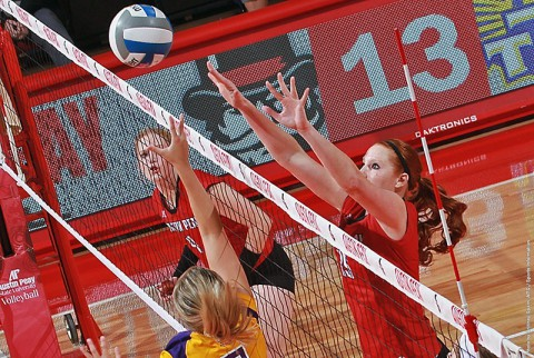 Austin Peay senior middle blocker Hillary Plybon recorded her fifth-straight double-digit kill outing with 10 kills against UT Martin Saturday. (APSU Sports Information)
