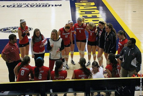 Austin Peay Women's Volleyball loses to Belmont. (APSU Sports Information)