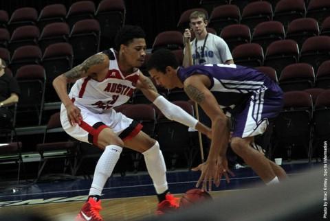 Khalil Davis named to all-tourney team after 25-point effort (Brad Kirtley/APSU Sports Information)