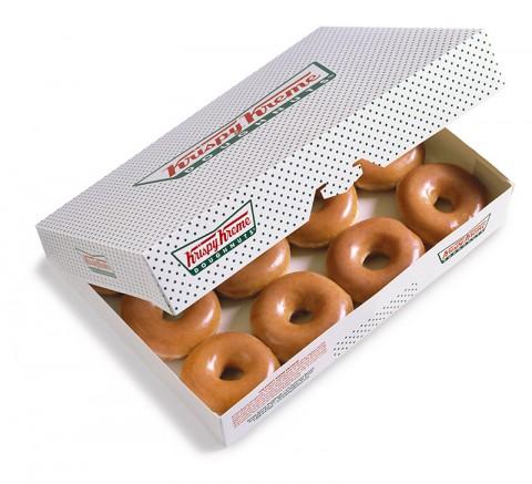 Dozen Krispy Kreme Glazed Dougnuts