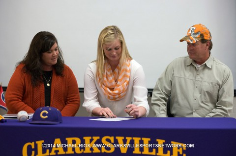 Clarksville High Softball's Haley Bearden signed her Letter of Intent to play for the Tennessee Lady Vols.