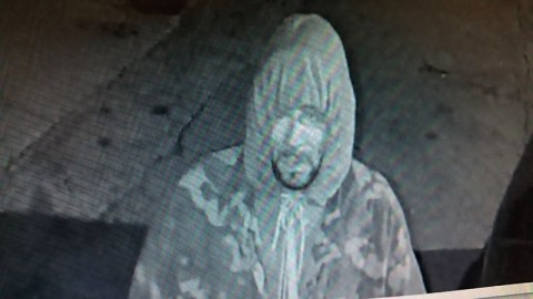 Clarksville Police Department is looking for the man in this photo. He is a suspect in the burglary at Staf Orton Auto Sales.