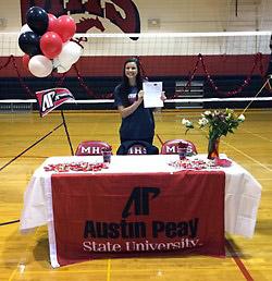 Kaylee Taff. (APSU Sports Information)
