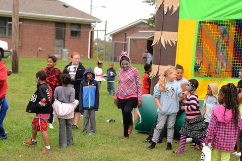 Block Party held in Lincoln Homes by LEAP and Clarksville Housing Authority.
