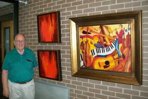 Larry Martin Shows Colorful Art at Planters Bank in November
