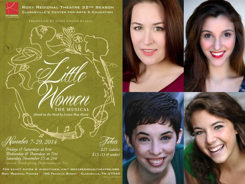 """Little Women: The Musical"" stars (Top Left) Allie McCaw, Elena Pascullo, Laura Donnelly and Corinne Bupp."